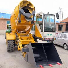 ny LUZUN selfloading concrete mixer gravemaskine på hjul