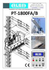 ny PT ALBA 1800FA/B ophængt arbejdsplatform